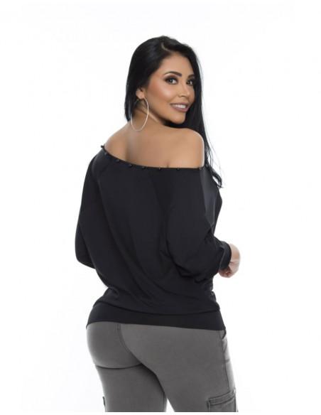 blusa sexy pitbull negra trasera bl4166